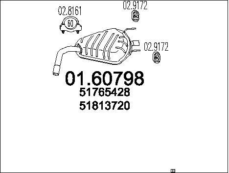 Silencieux arriere MTS 01.60798 (X1)