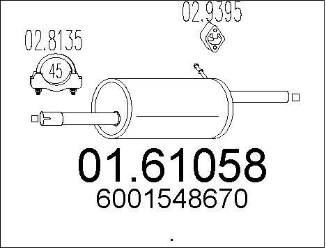 Silencieux arriere MTS 01.61058 (X1)