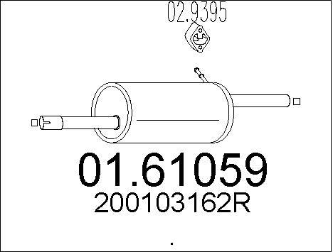 Silencieux arriere MTS 01.61059 (X1)