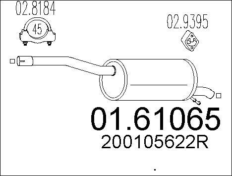 Silencieux arriere MTS 01.61065 (X1)