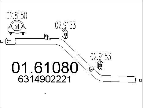 Silencieux MTS 01.61080 (X1)