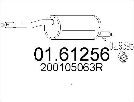 Silencieux arriere MTS 01.61256 (X1)