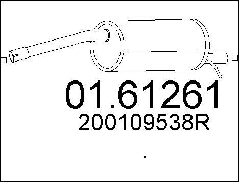 Silencieux arriere MTS 01.61261 (X1)