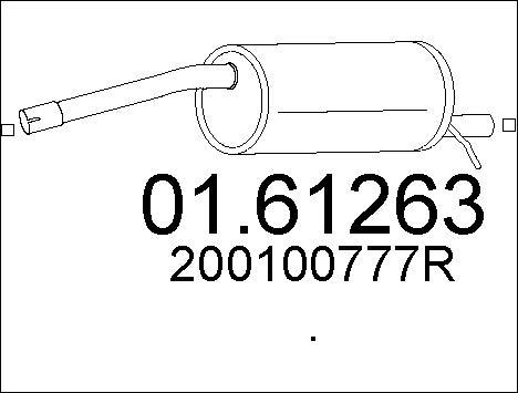Silencieux arriere MTS 01.61263 (X1)