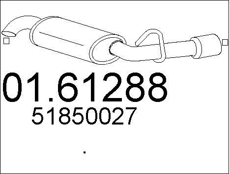 Silencieux arriere MTS 01.61288 (X1)