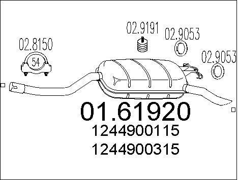Silencieux MTS 01.61920 (X1)