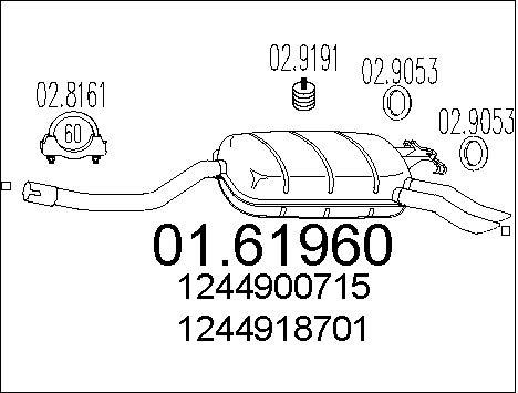 Silencieux MTS 01.61960 (X1)