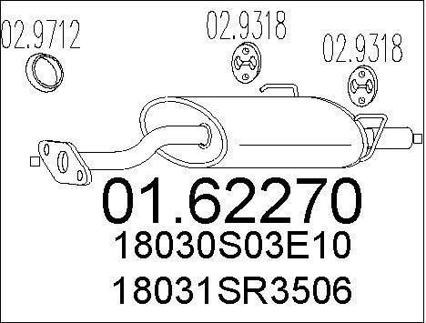 Silencieux arriere MTS 01.62270 (X1)