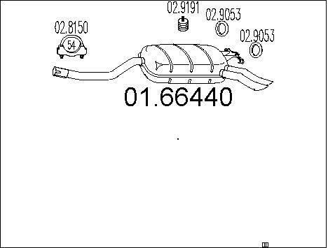 Silencieux MTS 01.66440 (X1)