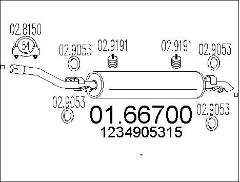 Silencieux MTS 01.66700 (X1)