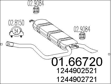 Silencieux MTS 01.66720 (X1)