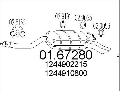 Silencieux MTS 01.67280 (X1)
