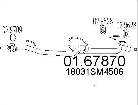 Silencieux arriere MTS 01.67870 (X1)