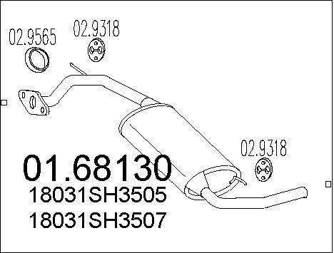 Silencieux arriere MTS 01.68130 (X1)
