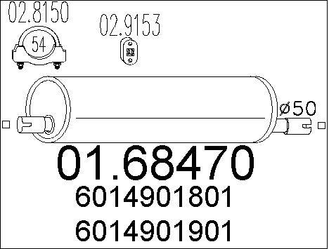 Silencieux MTS 01.68470 (X1)