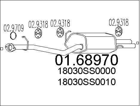 Silencieux arriere MTS 01.68970 (X1)
