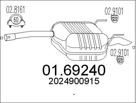 Silencieux MTS 01.69240 (X1)