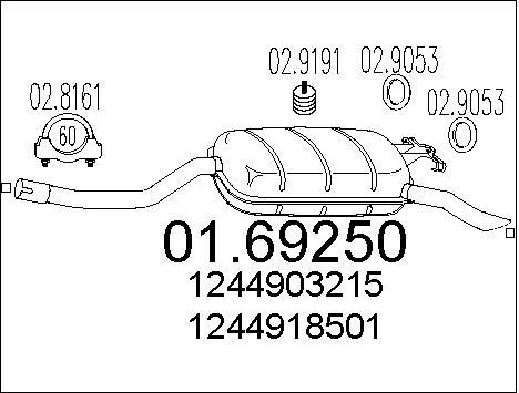 Silencieux MTS 01.69250 (X1)