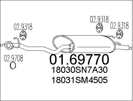 Silencieux arriere MTS 01.69770 (X1)