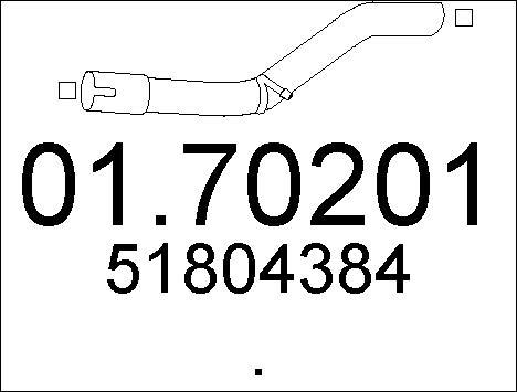 Tube d'echappement MTS 01.70201 (X1)