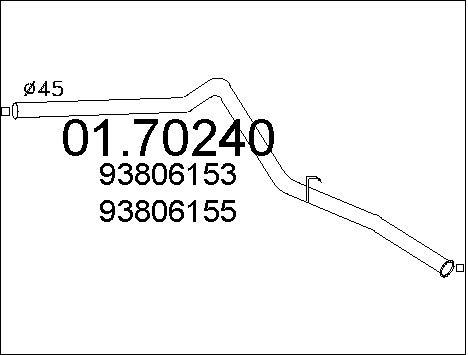 Tube d'echappement MTS 01.70240 (X1)