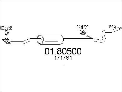 Silencieux central MTS 01.80500 (X1)