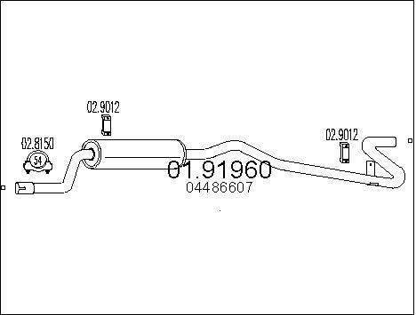 Silencieux arriere MTS 01.91960 (X1)