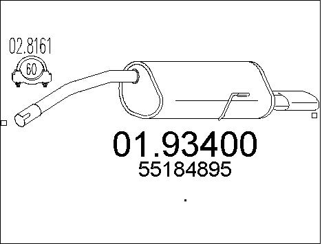 Silencieux arriere MTS 01.93400 (X1)
