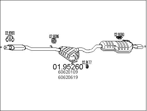 Silencieux arriere MTS 01.95260 (X1)