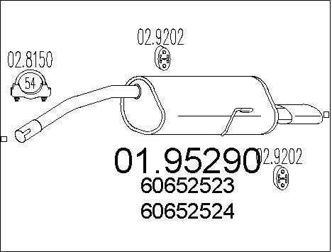 Silencieux arriere MTS 01.95290 (X1)