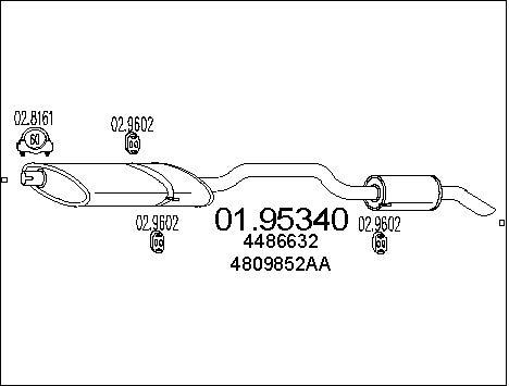 Silencieux arriere MTS 01.95340 (X1)