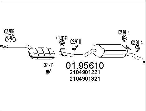 Silencieux MTS 01.95610 (X1)