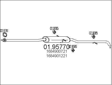 Silencieux MTS 01.95770 (X1)