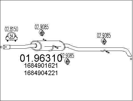 Silencieux MTS 01.96310 (X1)