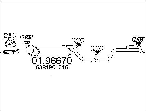 Silencieux MTS 01.96670 (X1)