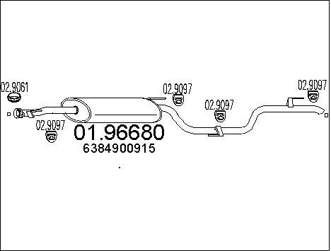 Silencieux MTS 01.96680 (X1)