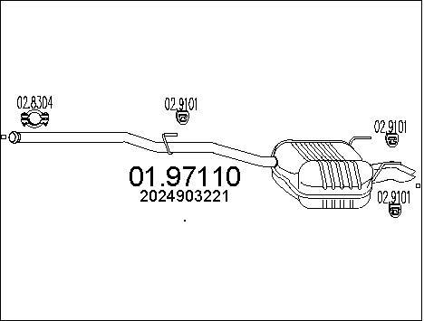 Silencieux MTS 01.97110 (X1)