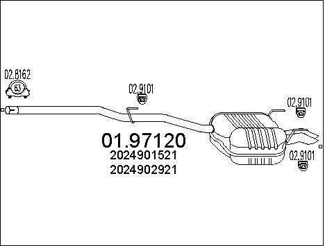 Silencieux MTS 01.97120 (X1)