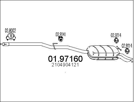 Silencieux MTS 01.97160 (X1)
