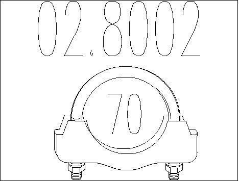 Raccord de tuyau d'echappement MTS 02.8002 (X1)