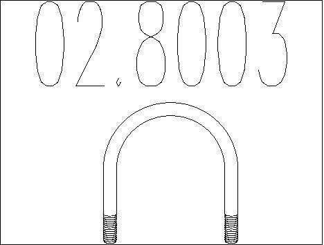 Raccord de tuyau d'echappement MTS 02.8003 (X1)