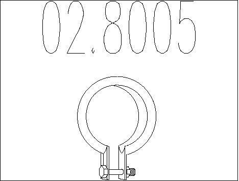 Raccord de tuyau d'echappement MTS 02.8005 (X1)