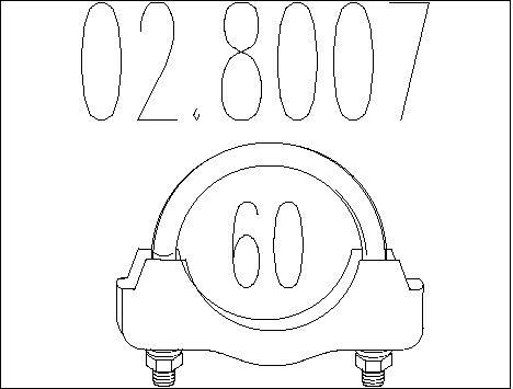 Raccord de tuyau d'echappement MTS 02.8007 (X1)