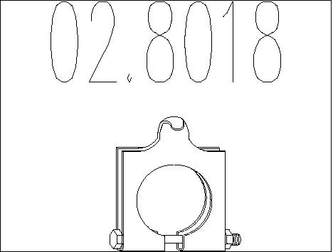 Raccord de tuyau d'echappement MTS 02.8018 (X1)