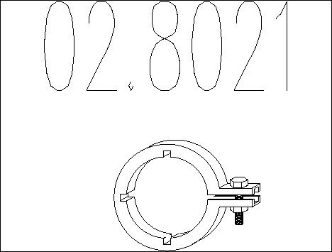 Raccord de tuyau d'echappement MTS 02.8021 (X1)