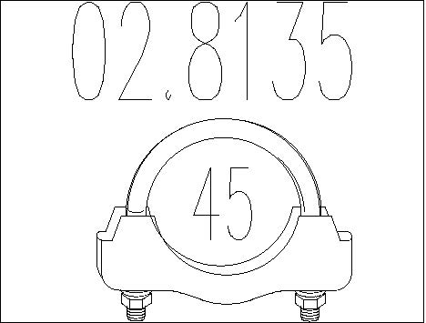 Raccord de tuyau d'echappement MTS 02.8135 (X1)