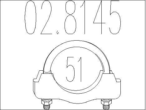 Raccord de tuyau d'echappement MTS 02.8145 (X1)