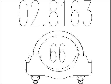 Raccord de tuyau d'echappement MTS 02.8163 (X1)