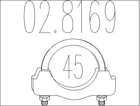 Raccord de tuyau d'echappement MTS 02.8169 (X1)