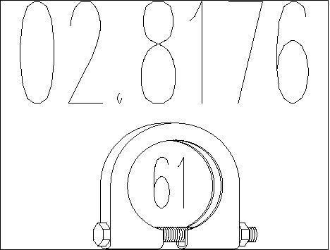 Raccord de tuyau d'echappement MTS 02.8176 (X1)